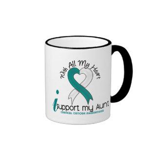 Cáncer de cuello del útero apoyo a mi tía taza