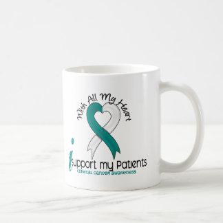 Cáncer de cuello del útero apoyo a mis pacientes tazas de café
