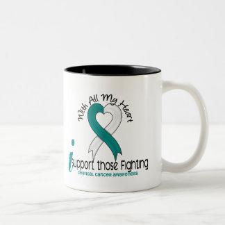 Cáncer de cuello del útero apoyo ésos que lucha taza