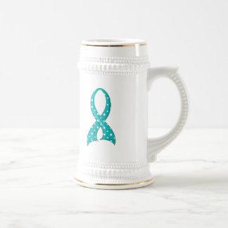 Cáncer de cuello del útero de la cinta del trullo jarra de cerveza