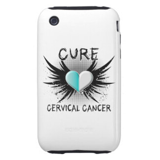 Cáncer de cuello del útero de la curación carcasa though para iPhone 3