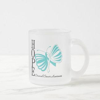 Cáncer de cuello del útero de la mariposa de la es tazas de café