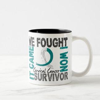 Cáncer de cuello del útero del superviviente 5 tazas de café
