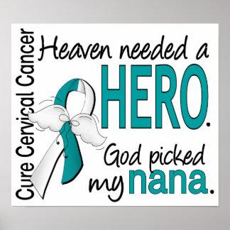 Cáncer de cuello del útero Nana del héroe necesari Poster