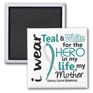 Cáncer de cuello del útero para mi héroe mi madre iman de frigorífico