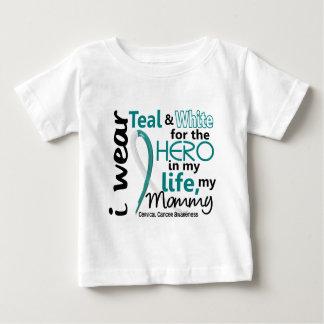 Cáncer de cuello del útero para mi héroe mi mamá 2 playera de bebé