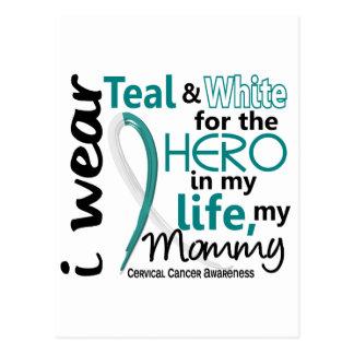 Cáncer de cuello del útero para mi héroe mi mamá 2 tarjeta postal