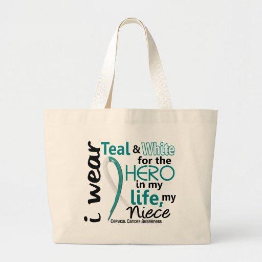 Cáncer de cuello del útero para mi héroe mi sobrin bolsas de mano