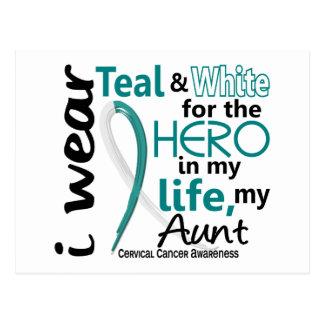 Cáncer de cuello del útero para mi héroe mi tía 2 postales