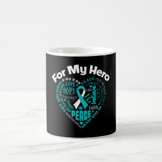 Cáncer de cuello del útero para mi héroe taza de café