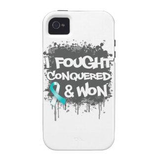 Cáncer de cuello del útero que luché conquistado g iPhone 4/4S carcasas