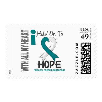 Cáncer de cuello del útero que me aferro para timbre postal