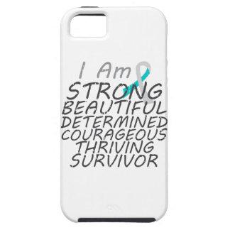Cáncer de cuello del útero soy superviviente fuert iPhone 5 Case-Mate funda