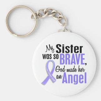 Cáncer de estómago de la hermana del ángel 1 llaveros personalizados