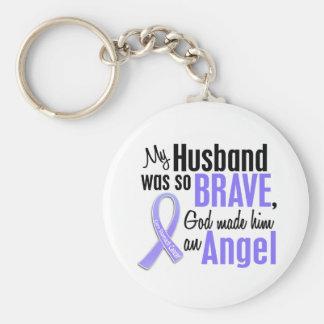Cáncer de estómago del marido del ángel 1 llavero personalizado