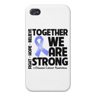 Cáncer de estómago juntos somos fuertes iPhone 4 carcasas