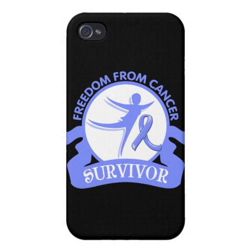 Cáncer de estómago - libertad del superviviente de iPhone 4 fundas