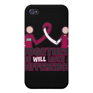 Cáncer de garganta juntos diferenciaremos iPhone 4/4S fundas