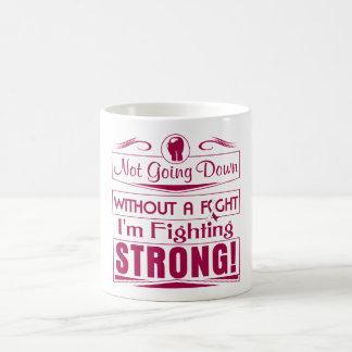Cáncer de garganta soy el luchar fuerte taza