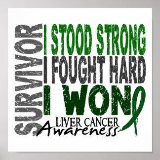 Cáncer de hígado del superviviente 4 poster
