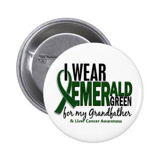 Cáncer de hígado llevo el verde de E para mi abuel Pin Redondo 5 Cm