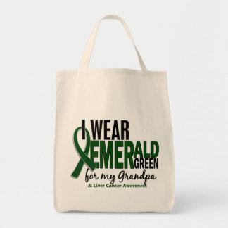 Cáncer de hígado llevo el verde esmeralda para mi bolsa tela para la compra