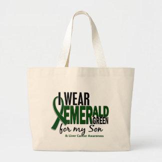 Cáncer de hígado llevo el verde esmeralda para mi  bolsas lienzo