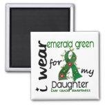 Cáncer de hígado llevo el verde esmeralda para mi  iman de nevera