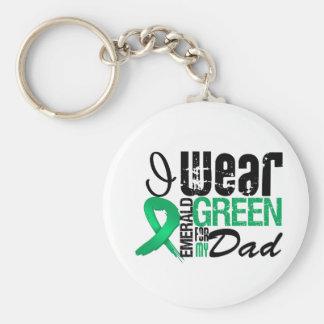 Cáncer de hígado llevo el verde esmeralda para mi  llaveros personalizados