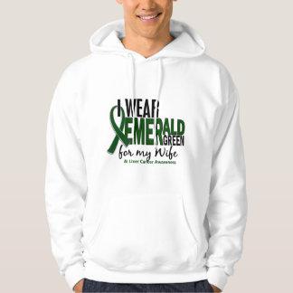 Cáncer de hígado llevo el verde esmeralda para mi sudadera