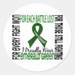 Cáncer de hígado llevo orgulloso el verde esmerald etiqueta