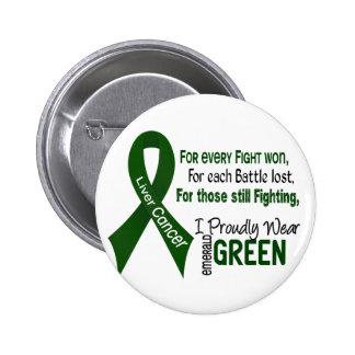 Cáncer de hígado llevo orgulloso el verde esmerald pin redondo de 2 pulgadas