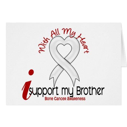Cáncer de hueso apoyo mi Brother Tarjetón