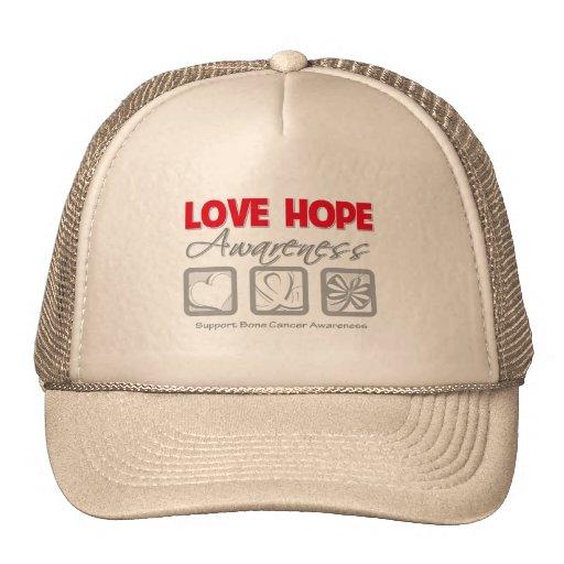 Cáncer de hueso de la conciencia de la esperanza d gorras