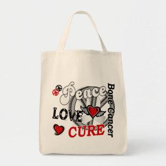 Cáncer de hueso de la curación 2 del amor de la bolsa tela para la compra