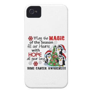 Cáncer de hueso de los pingüinos del navidad Case-Mate iPhone 4 cobertura