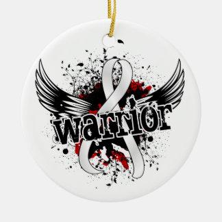 Cáncer de hueso del guerrero 16 adorno redondo de cerámica