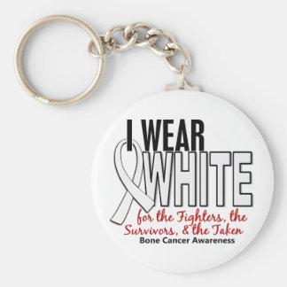 Cáncer de hueso llevo a los supervivientes blancos llaveros personalizados
