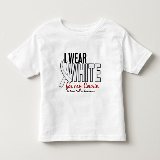 Cáncer de hueso llevo el blanco para mi primo 10 t-shirt