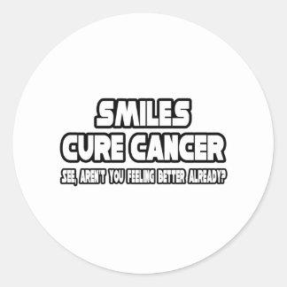 ¿Cáncer de la curación de las sonrisas… que siente Pegatina Redonda