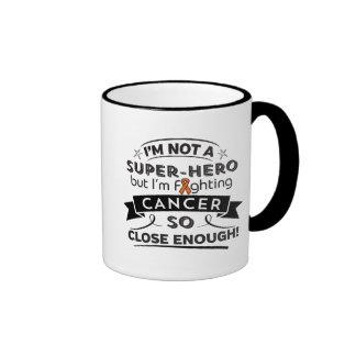 Cáncer de la leucemia no un super héroe taza a dos colores