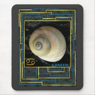 Cáncer de la muestra del zodiaco, luna Shell Alfombrilla De Ratones