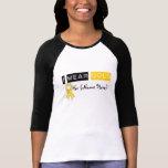 Cáncer de la niñez de la cinta del oro del desgast camisetas