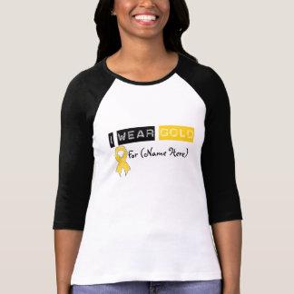 Cáncer de la niñez de la cinta del oro del camisetas