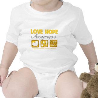 Cáncer de la niñez de la conciencia de la esperanz trajes de bebé