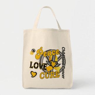 Cáncer de la niñez de la curación 2 del amor de la bolsa tela para la compra