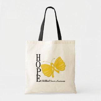 Cáncer de la niñez de la mariposa de la esperanza bolsas