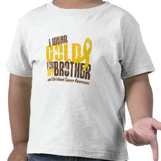 Cáncer de la niñez LLEVO el ORO PARA MI BROTHER 6 Camisetas
