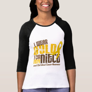 Cáncer de la niñez LLEVO el ORO PARA MI SOBRINA 6 Camiseta