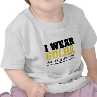 Cáncer de la niñez llevo la cinta Brother del oro Camisetas